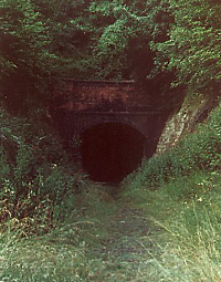Combe Down Tunnel south portal, abandoned
